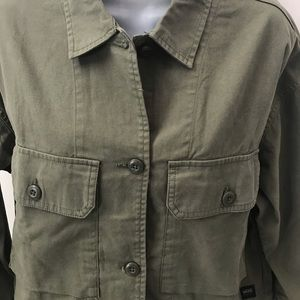 NEW w/Tag-VANS Army Green Button Jacket S